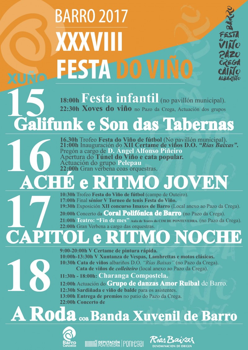 2017 cartel program festa viño