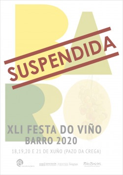 2020 cartel xli festa do viño suspendida